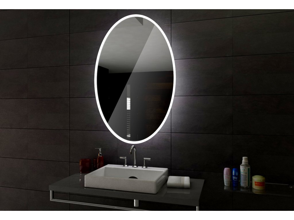 HAVANA kulaté zrcadlo s LED osvětlením a chytrými doplňky
