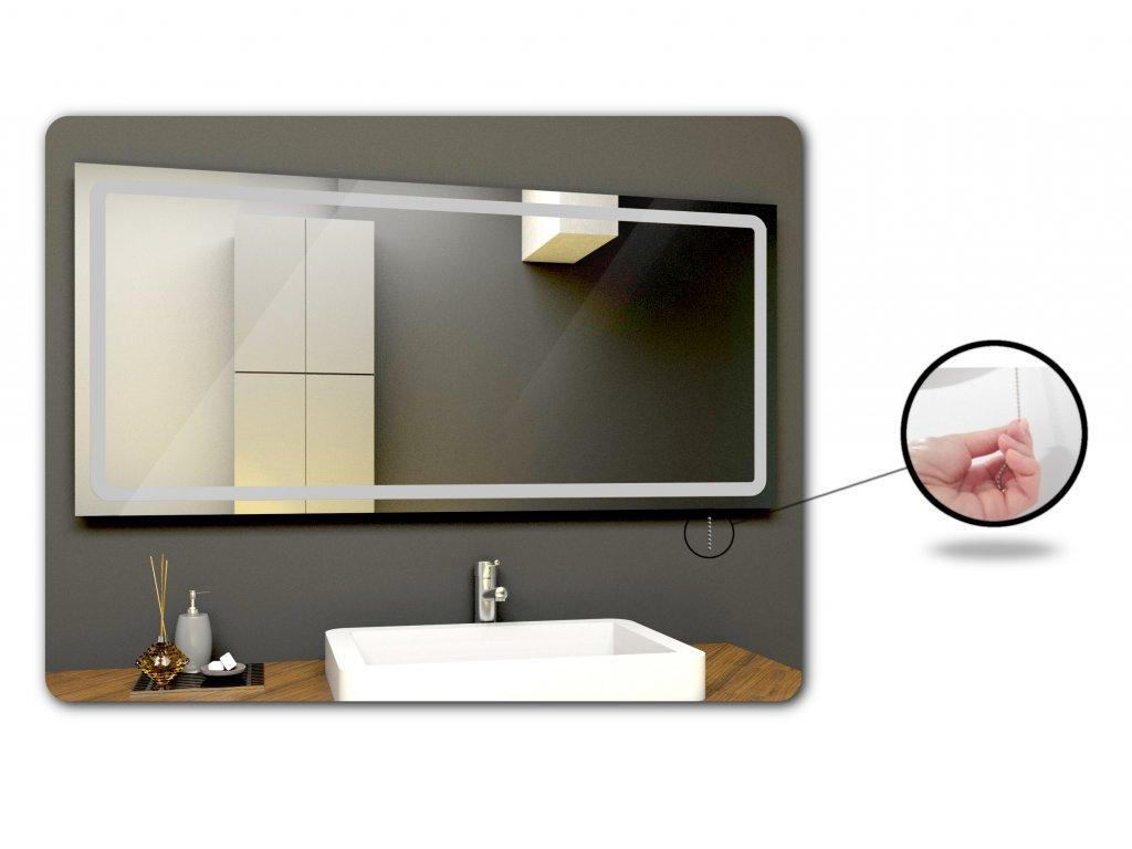 koralkový vypínač k chytrému zrcadlu na míru, LED zrcadlo s osvětlením