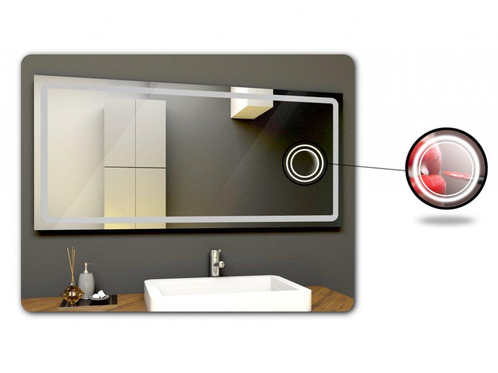kosmeticke zrcatko s podsvicenim k LED zrcadlu
