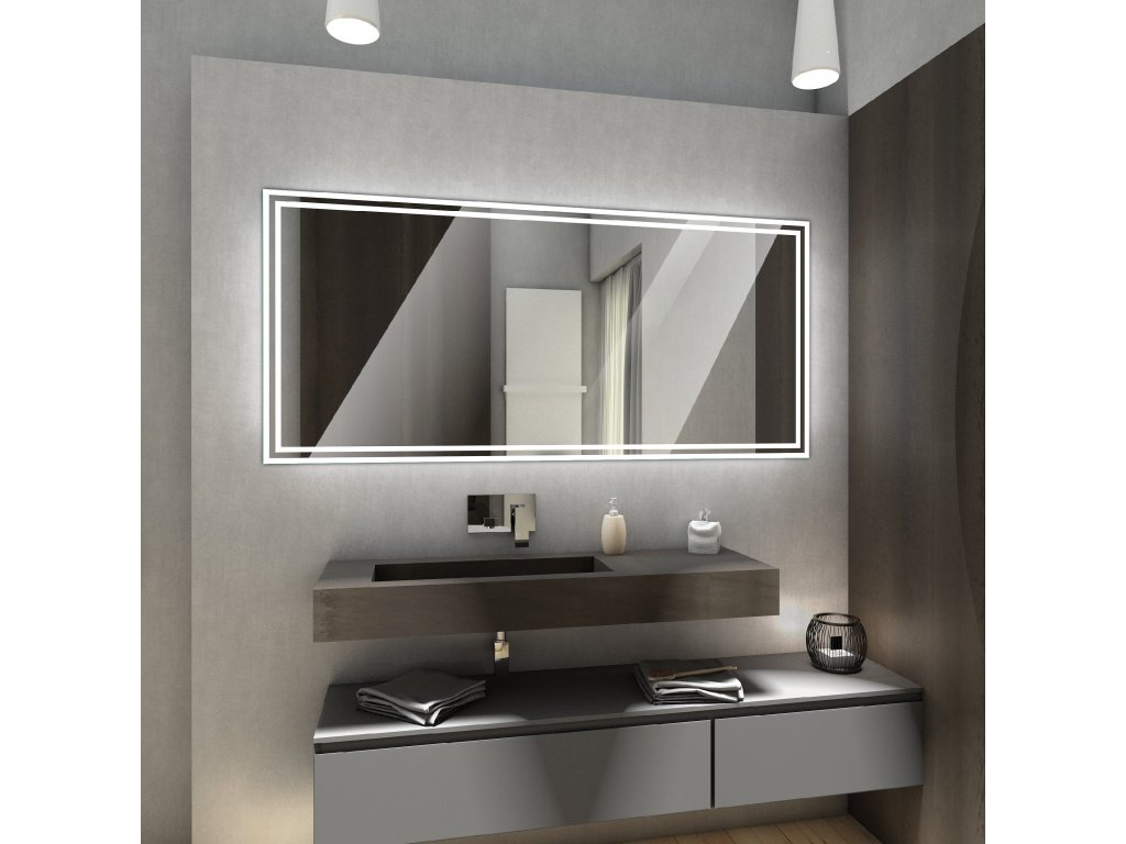 wieden chytre zrcadlo s LED osvětlením, zrcadlo na míru, chytré zrcadlo