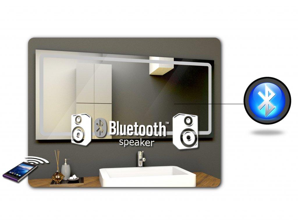 zabudovaný bluetooth reproduktor pro LED zrcadlo
