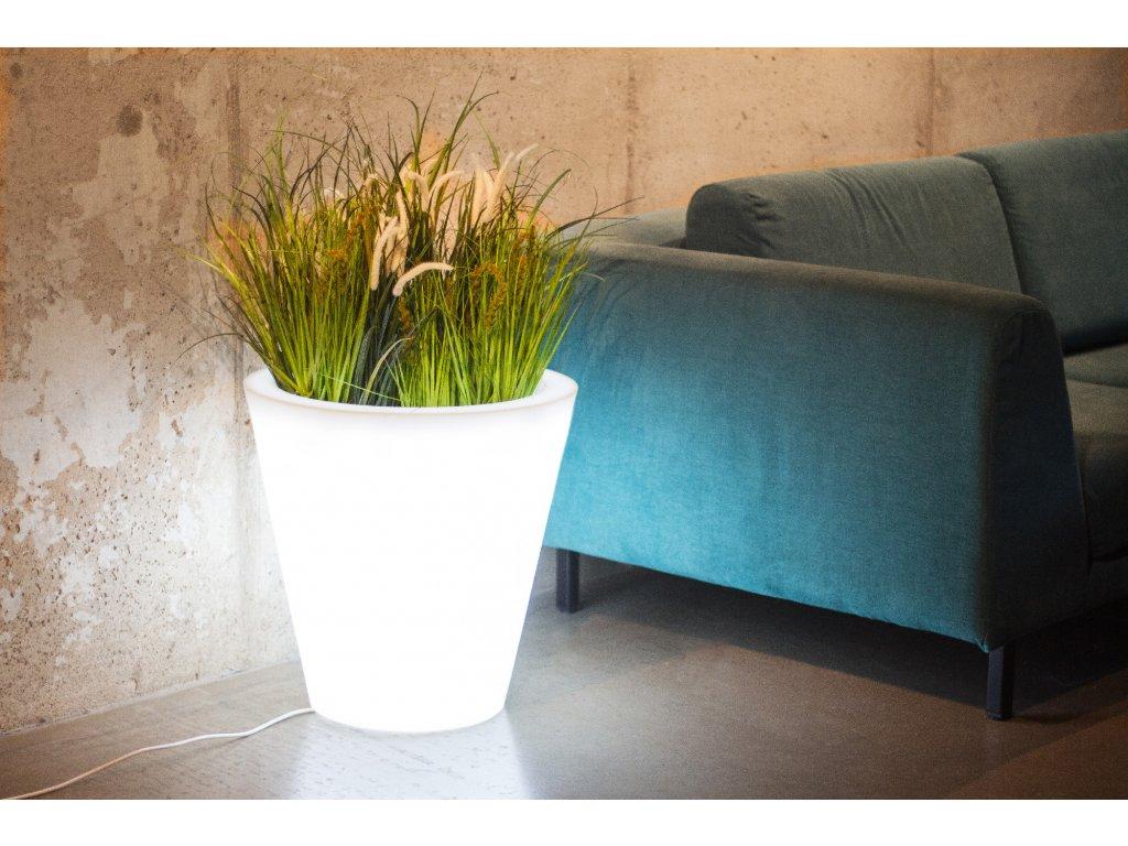 Monumo Ovo svítící květináč, LED květináč