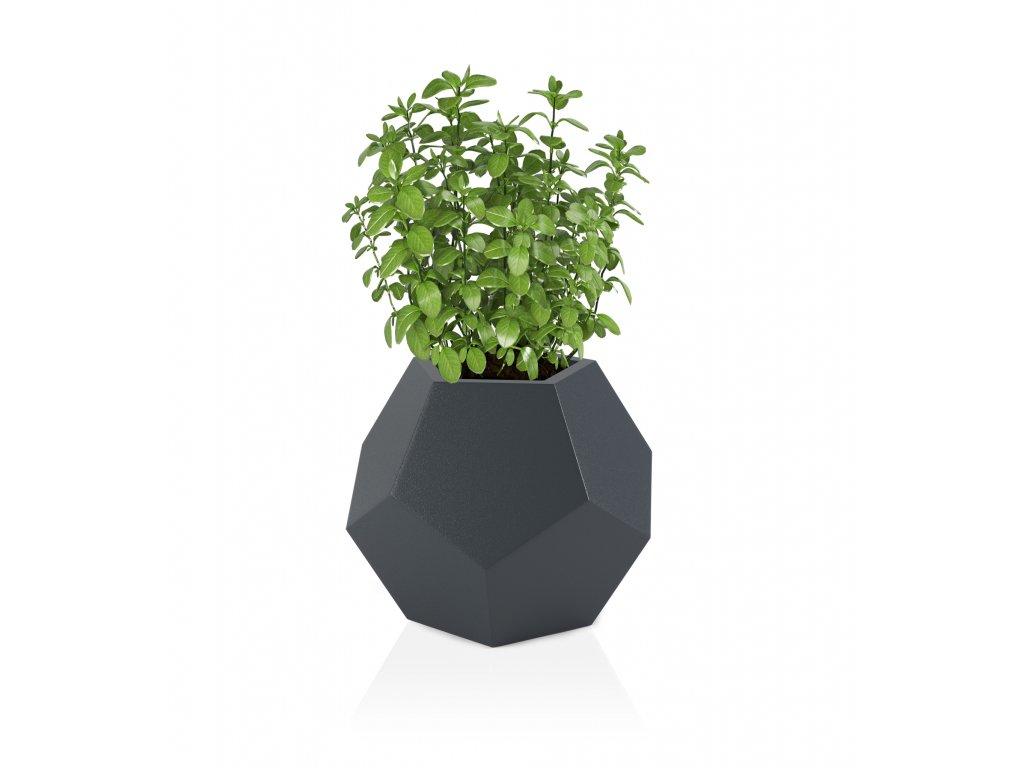 LED květináč alma, šedý