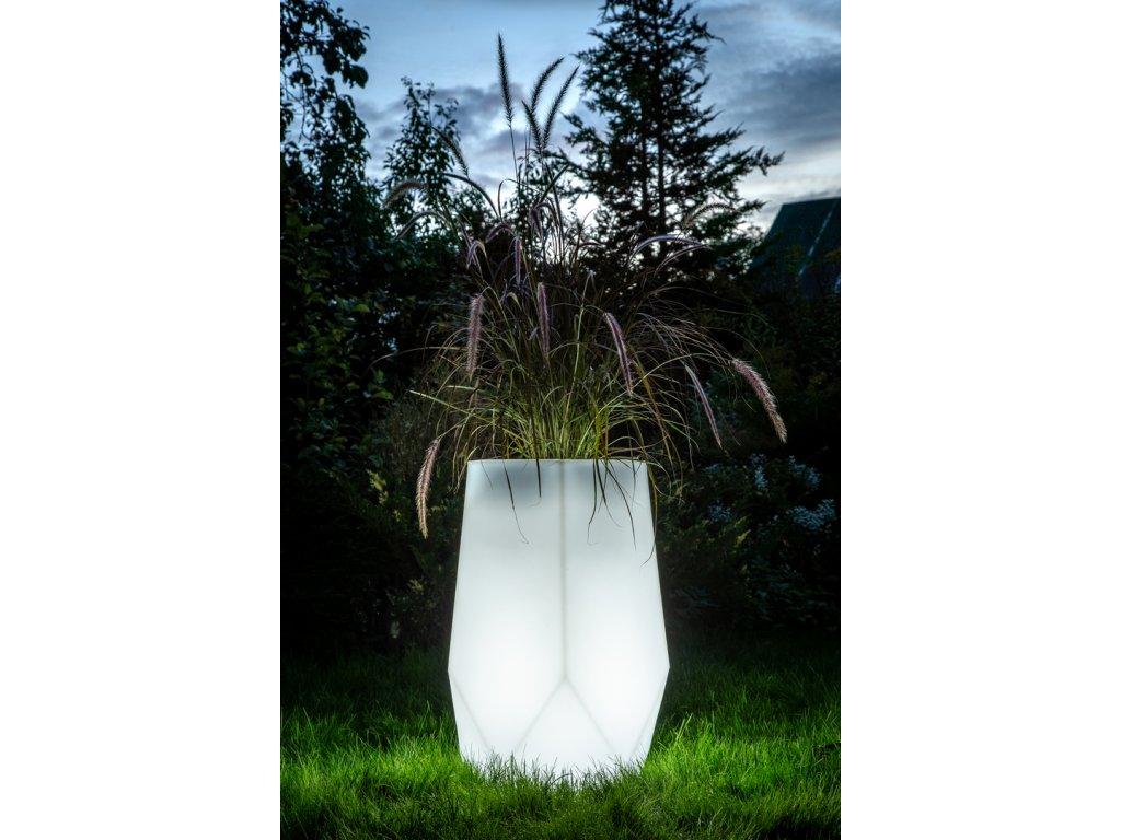 Svítící květináč Bari, LED květináč