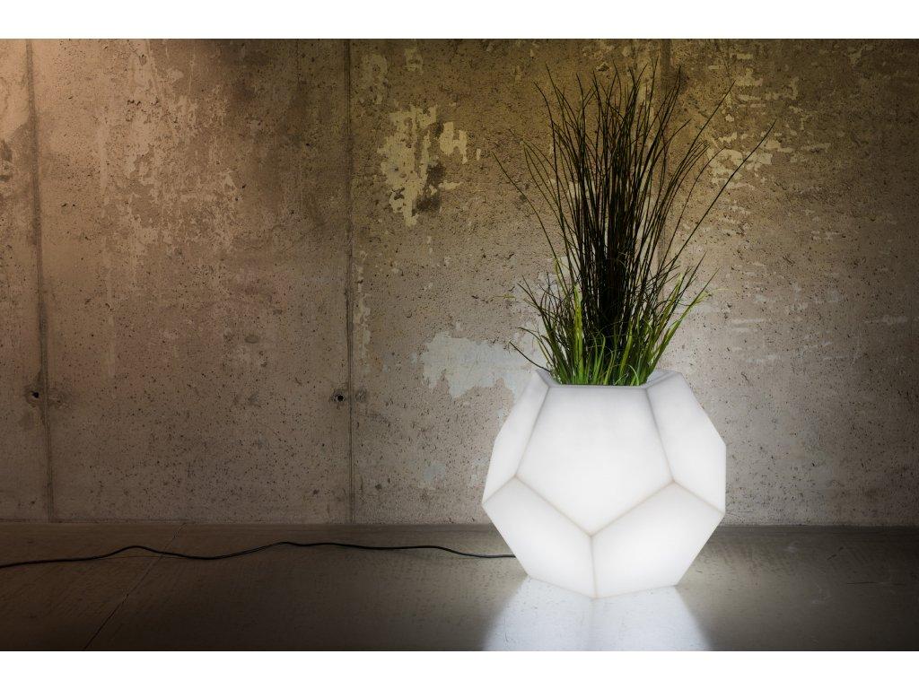 LED květináč Alma (barvy květináče žlutá 1023)