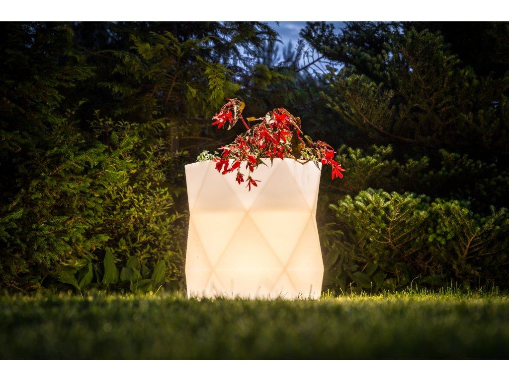 Monumo Modena svítící květináč do exteriéru i interiéru