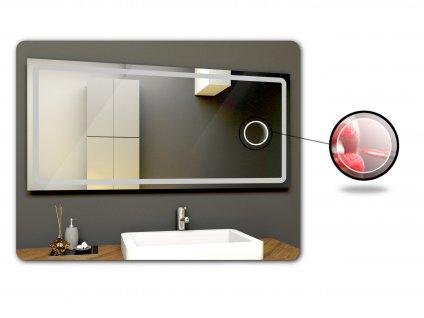 zabudované kosmetické zrcátko bez podsvícení k LED zrcadlu