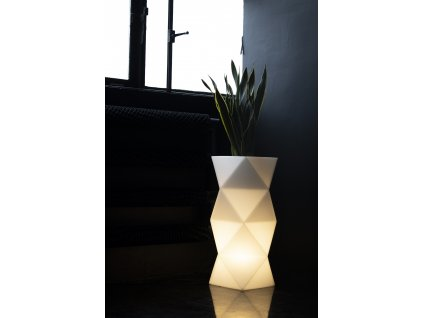 LED geometrický květináč