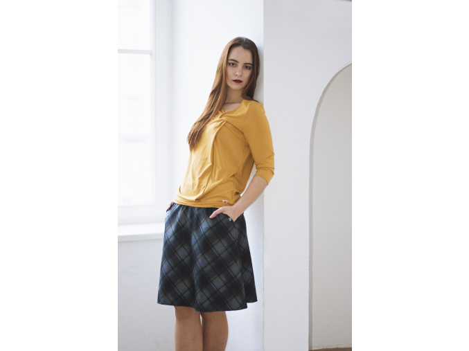 Áčková sukně Grid blue