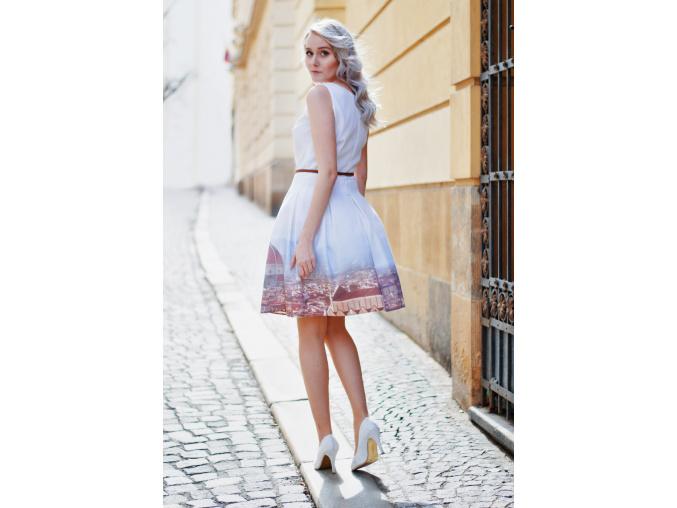 Šaty z autorské látky  Florencie