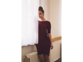 Šaty Contrasting line coloured