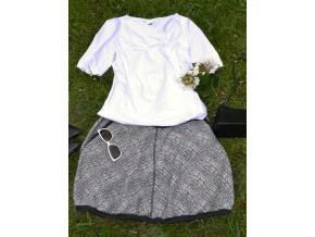 Balonová sukně Black and white - Výprodej