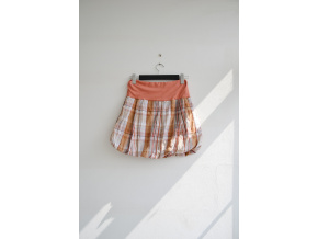 Letní balonová sukně Jemná kostka - Výprodej