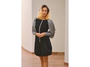 Balonová sukně riflová černá