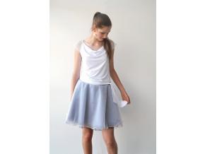 Společenská tylová sukně Black and white