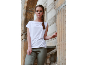 Oversize top asymmetric (white)