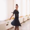 Černá asymetrická úpletová sukně