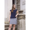 Letní úpletová sukně Mini Navy