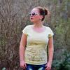 Tričko s autorským potiskem Impression (vanilla) - Výprodej!