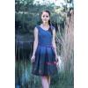 Šaty z autorské látky Under water