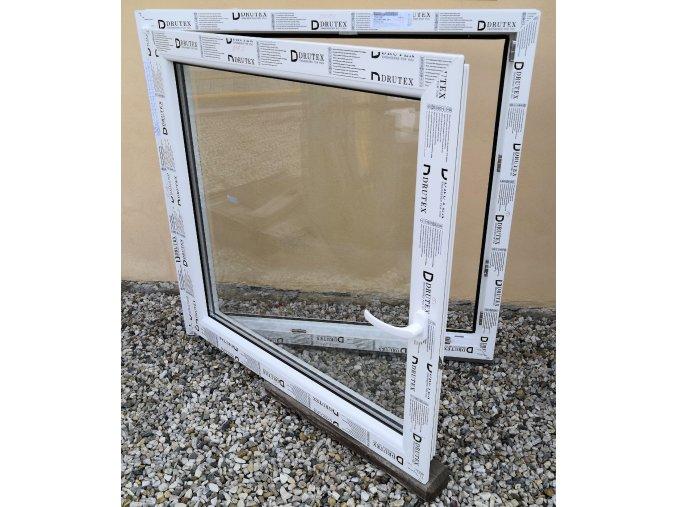 Drutex plastové okno otevíratelné a sklopné bílé 120x147+3cm O/V