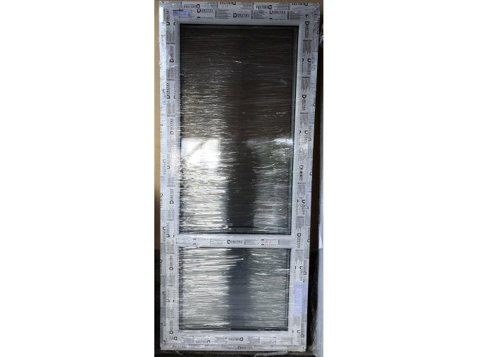 Drutex balkonové dveře otevíratelné i sklopné, bílé  80 x 205+3cm O/V