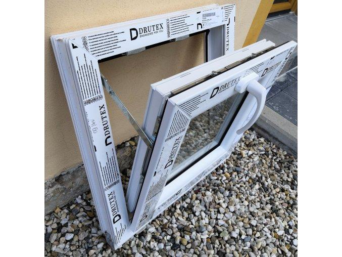 Drutex plastové okno sklopné bílé 120x60+3cm V