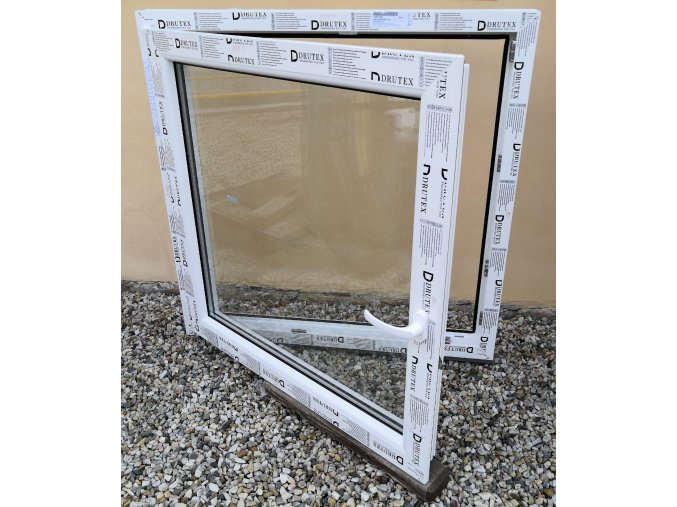 Drutex plastové okno otevíratelné i sklopné bílé 100x120+3cm O/V
