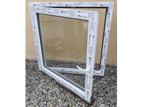 Drutex plastové okno otevíratelné i sklopné bílé 80x120+3cm O/V