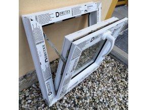 Drutex plastové okno sklopné bílé 120x80+3cm V