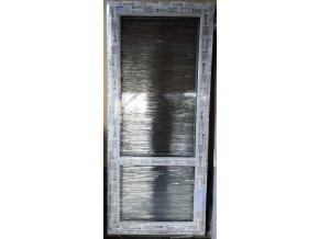 Drutex balkonové dveře otevíratelné i sklopné tmavý dub 87 x 210+3cm O/V