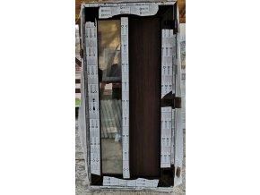 Drutex vchodové dveře tmavý dub oboustranný,3 sklo, iglo5 100x207cm