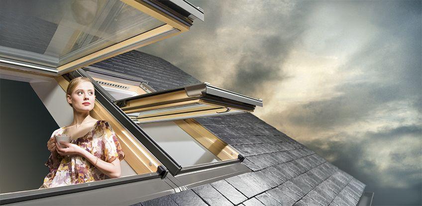 Výklopně kyvná střešní okna