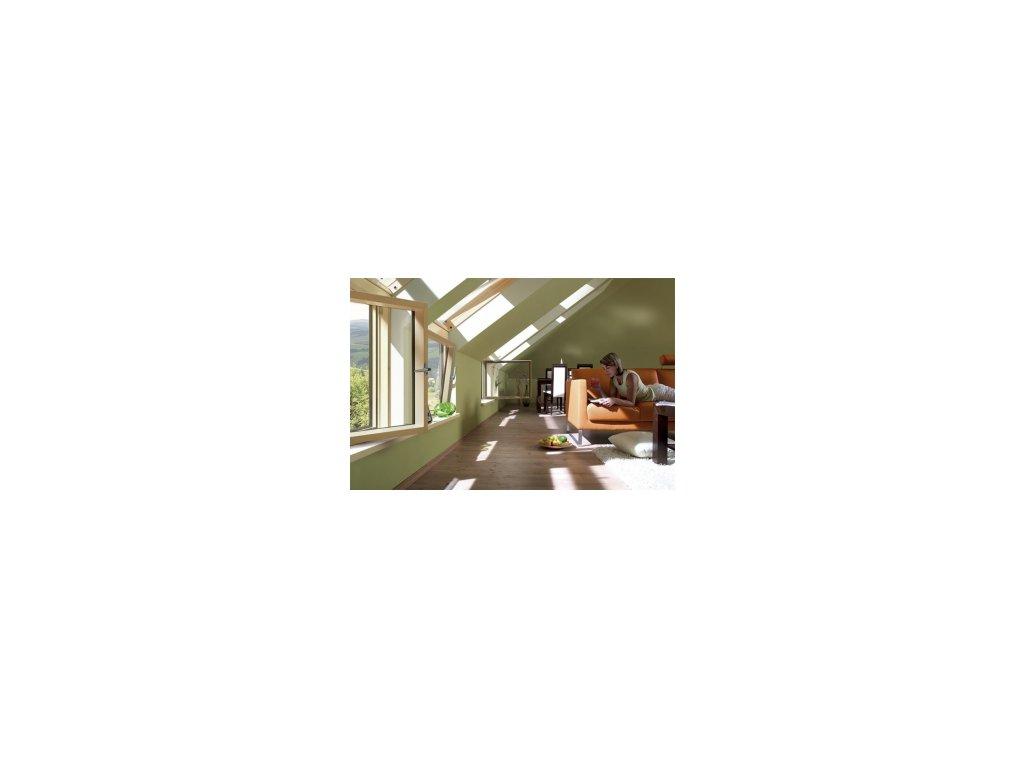 Fasádní okno FAKRO BDR L3 (pravé) (Pro fasádní sestavy FAKRO 91 114x115 cm)