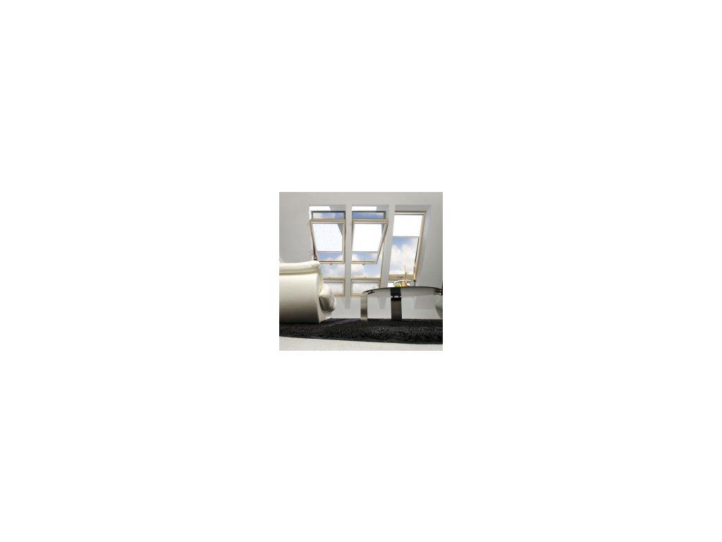 Kyvné okno FAKRO FYU-V U5 proSky se zvýšenou osou otáčení (Rozměr okna FAKRO BP 66x180 cm)