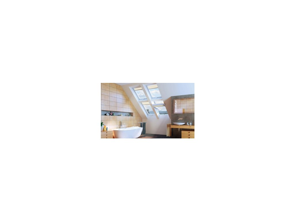 Střešní okno energoúsporné plastové kyvné  FAKRO PTP-V U5 (Rozměr okna FAKRO 14 66x140 cm)