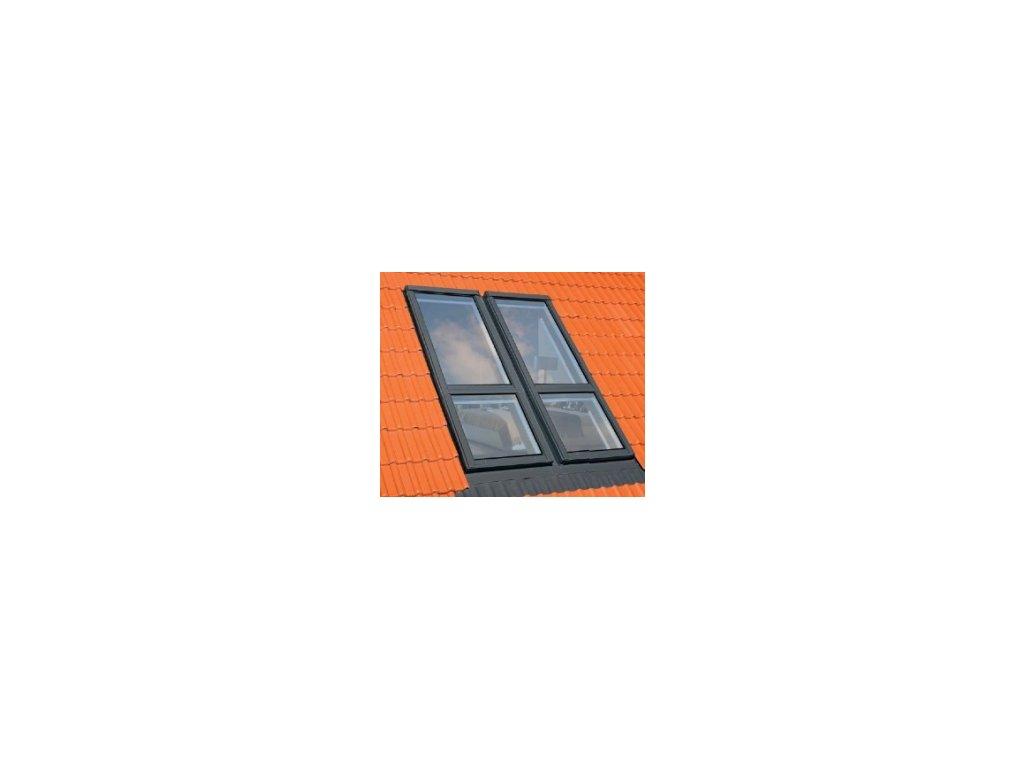 Lemování pro balkónové okno FAKRO EHN-A/G pro vysoce profilované krytiny (Zvýšená osa otáčení Fakro DD 94x255 cm)