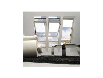 Kyvné okno FAKRO FYU-V U3 proSky se zvýšenou osou otáčení (Rozměr okna FAKRO FP 134x180 cm)