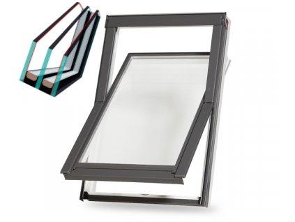 Plastové střešní okno s trojskly