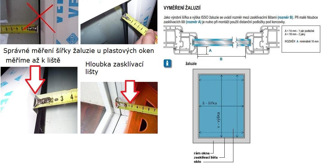 Měření žaluzií u plastových oken-kasko