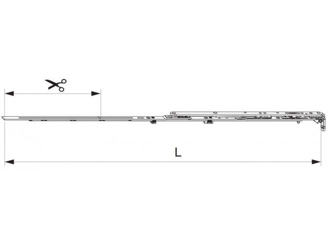 Nůžky MM montované se spárovým větráním 800 FFB 601-800, pravé