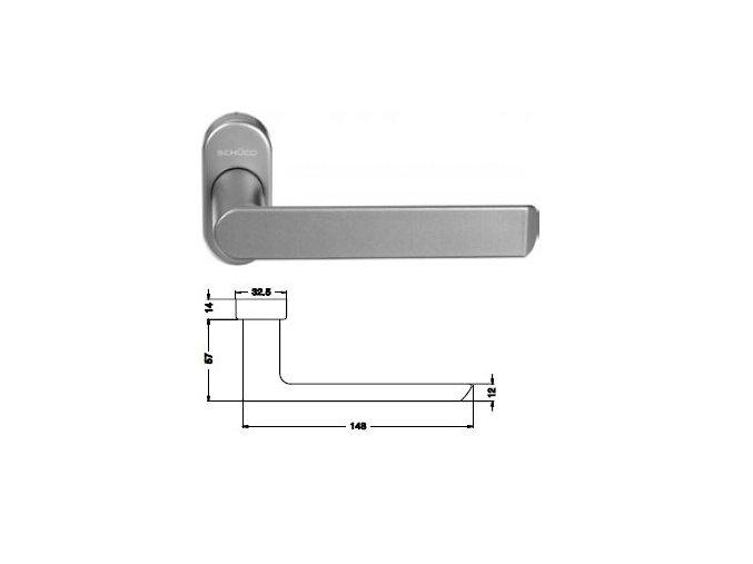 SCHÜCO Dveřní klika pro hliníkové dveře INOX leštěná nerez -S240168