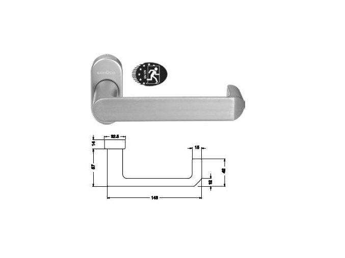 SCHÜCO Dveřní klika pro hliníkové dveře