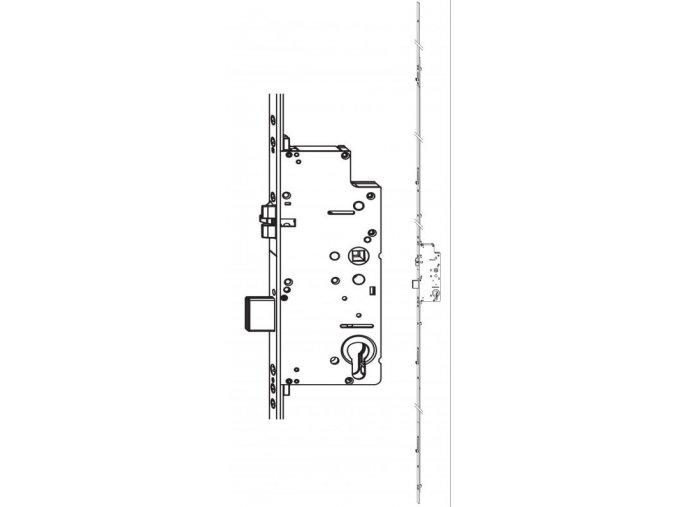 Z-TS zámek E92 PZ 4I-S DM40 VK8 F-2400X16, prodlužitelný PT