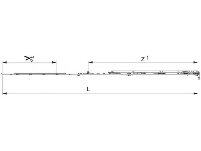 Nůžky MM montované se spárovým větráním 1050 FFB 801-1.050 1 i.S., pravé