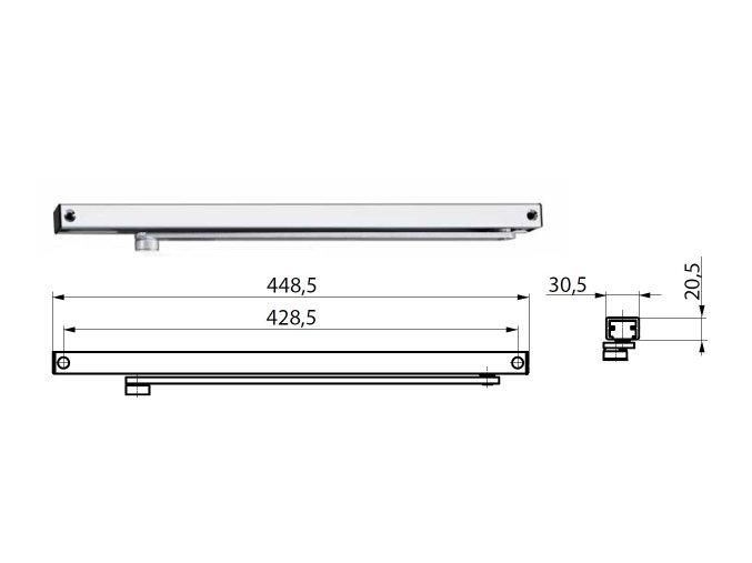 TS3000V kluzná lišta 2