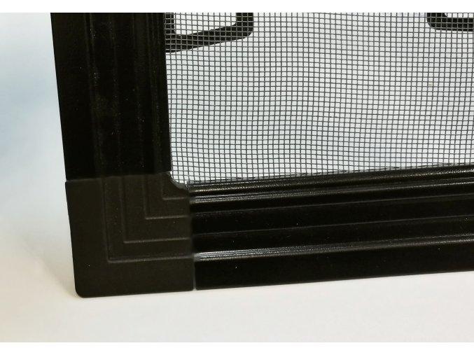 Okenní síť proti hmyzu ISSO s lemem - TMAVĚ HNĚDÁ RAL 8019