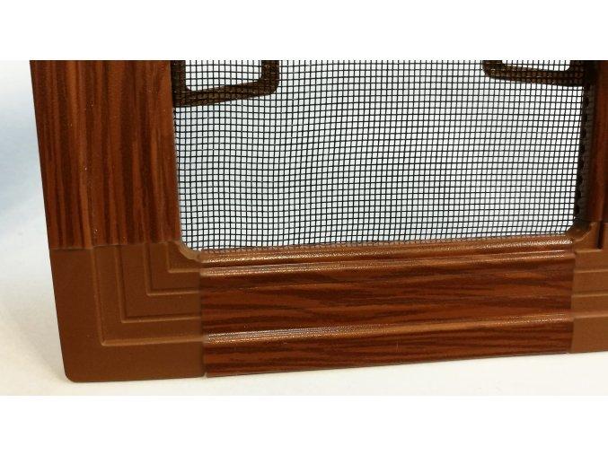Okenní síť proti hmyzu ISSO s lemem - IMITACE DŘEVA