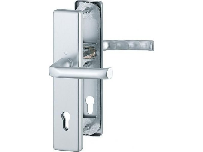 Dveřní kování London, klika-klika, 8/92 mm, 66-72 mm, F1-stříbrná