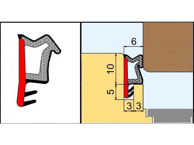 L 2110 Přídavné naléhávkové těsnění pro výrobu oken, bílé